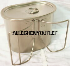 New GI Style Heavy Gauge Stainless Canteen Cup plus Matching Stainless Steel Lid