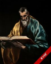 SAINT SIMON THE APOSTLE OF JESUS EL GRECO PAINTING BIBLE ART REAL CANVAS PRINT