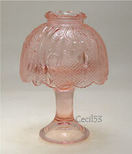 PINK GLASS COURTING FAIRY LAMP VOTIVE CANDLE HOLDER