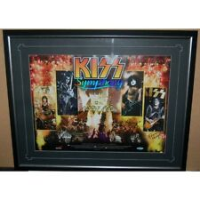 KISS SYMPHONY HAND SIGNED FRAMED LIMITED EDITION PRINT SIMMONS STANLEY CRISS