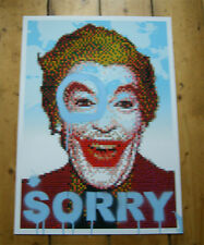 "Joe Black ""O So Sorry"" Joker Print -/35 signed Batman Miss Bugs or Cyclops stick"