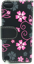 Floral Flower Leather Wallet Flip Pouch Case Cover For Apple iPod Touch 5 Gen