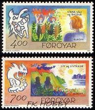 Denmark Faroe 1995 Mi 278-79 ** Union Europa Cept Cartons Fairy Legends