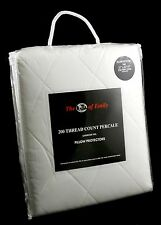"Pair of Emperor Cal King Size Quilted Pillow Protectors - For 20"" x 42"" Pillows"