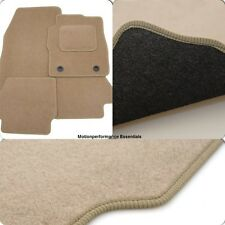 Perfect Fit Beige Velour Carpet Car Mats for Fiat 500 (07-12) - Thick Heel Pad