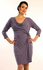 New JAPANESE WEEKEND MATERNITY Nursing Side Knot Career Sweep Dress S 6 8