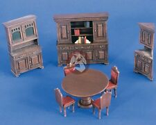 Verlinden 1/35 Dining Room Furniture (Table w/4 Chairs, Hutch & 2 Cabinets) 2230