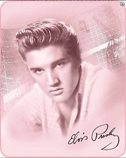 "79"" x 96"" Queen Size Elvis Presley The King Faux Mink Blanket Throw Colorful NEW"