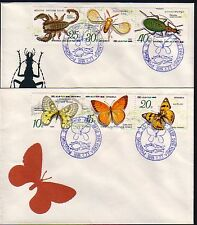 * Korea, Scott cat. 2826 A-F. Butterflies & Insects on 2 First day covers.