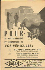 LA COURNEUVE AUTOCOMPTEUR CARBURANT SATAM PUBLICITE ADVERTISING 1936