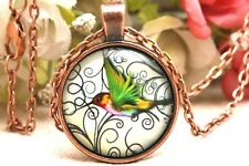Antique Copper Necklace Hummingbird Pendant of Life Jewelry Necklace Jewelry
