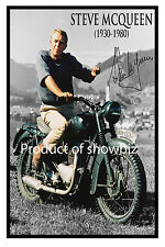 * STEVE McQUEEN * Large signed poster of late hollywood icon! Great gift!