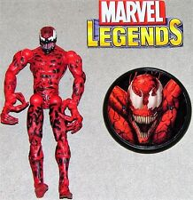 "Marvel Legends Spiderman Sinister 6 Fearsome Foes Carnage 6"" Figure & Stand Lot"