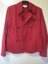A LOVELY WOMENS MARKS & SPENCER RED JACKET  SIZE 10   BUTTON FASTENER