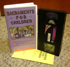 SACRAMENTS FOR CHILDREN Catechism & Catholic Church VHS w/ guide Father Ray Hain