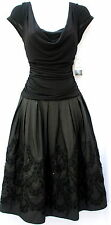 S. L. Fashions elegant formal black elegant  A line dress embelished sz 12 new
