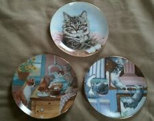 (3) Hamilton Collection - cat / kitten collector plates - Country Kitties Appeal
