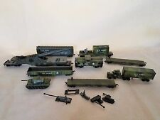Vintage AHM Ho US Military & mixes Train set, Crane and Train Accessories lot