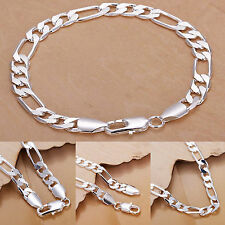 925 Sterling Silver Stylish Chain Bracelet Ladies Men Jewellery Valentine's Gift