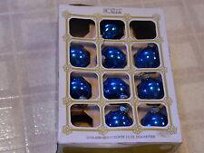 Vintage 1970's  Noelle Mercury Glass Christmas Ornament Balls ~ Misc Set of 9