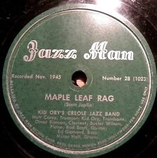 0713/ KID ORY AND HIS CREOLE JAZZ BAND-Maple Leaf  Rag-Weary Blues-Schellack