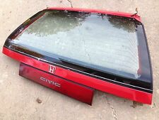 88 89 90 91 Honda Civic Hatchback OEM Rear Hatch Glass Center Taillight Panel