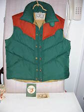 VTG Mens Down Filled Vest by William Barry/Brandon CO Green & Rust W/Tags Sz XL