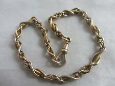 9k 9ct gold chain bracelet antique Victorian c1860 tbj01787.