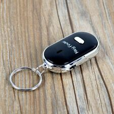 1Pcs LED Key Finder Whistle Sound Control Locator Find Lost Black Keychain