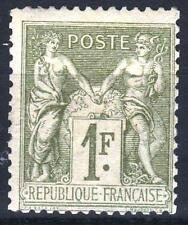 "FRANCE STAMP TIMBRE YVERT N° 82 "" SAGE 1F OLIVE CLAIR 1883 "" NEUF xx TB   M970"