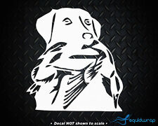"""Lab Duck Hunting Dog Car Decal / Laptop Sticker - WHITE 5"""""""