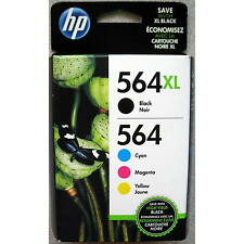 4-PACK HP GENUINE 564XL Black & 564 Color Ink (RETAIL BOX) PHOTOSMART 6510 6520