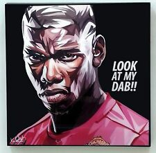 Pogba Football player canvas quote wall decals photo painting pop art poster