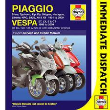 [3492] Piaggio Vespa Scooters 1991-2009 Haynes Workshop Manual