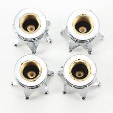 4× Chrom Krone Modell Autoreifen Luftdüse Ventilkappe aus Messing Hohe Qualität!