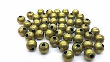 100 Piezas 8mm Bronce tono encontrar Beads-a6766