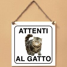 Exotic Shorthair 2 Attenti al gatto Targa gatto cartello ceramic tiles