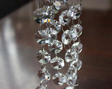 2 Yards Clear Crystal Octagon 14MM Bead Chandelier Lamp Part Chain Garlands