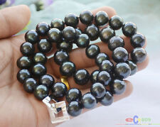"P4624 A++ 24"" 15mm ROUND Tahitian black Freshwater cultured PEARL NECKLACE"