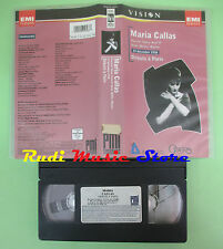 VHS Maria Callas DEBUTS A PARIS 19 decembre 1958 OPERA PARIS (CL2) no cd dvd lp