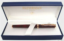 WATERMAN PREFACE RED  MARBLE FOUNTAIN PEN 18k MEDIUM POINT  NIB  IN BOX  **
