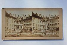 Suisse Swiss Photo stéréo Papier Vintage vers 1870