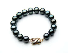 $6,599 Pacific Pearls® AAA 9-11 mm Tahitian Black Pearl Bracelet