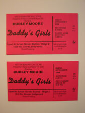 DADDY'S GIRLS STARRING DUDLEY MOORE COLLECTION OF 2 ORIGINAL 1994 TICKETS CBS TV