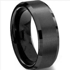 8mm Stainless Steel Ring Man/Women's Wedding Band Silver Black Gold Rose Sz 5-15