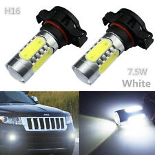 2pcs H16 HID White 5202 CREE COB LED Projector Bulbs For Fog Lamp Daytime Lights
