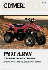 NEW CLYMER SERVICE REPAIR MANUAL M363 POLARIS SCRAMBLER 500 4WD 1997 98 99 2000