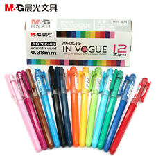 12 Pcs Set M&G Color Pretty Creativity Roller Ball Pens 0.38mm