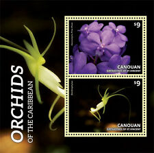 Canouan Grenadines of St Vincent - Orchids of the Caribbean - 1402 S/S MNH