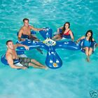 AhhQua Bar Pool Lounge Party Inflatable Float 4 Adoult Seats Toy 1017003 NEW